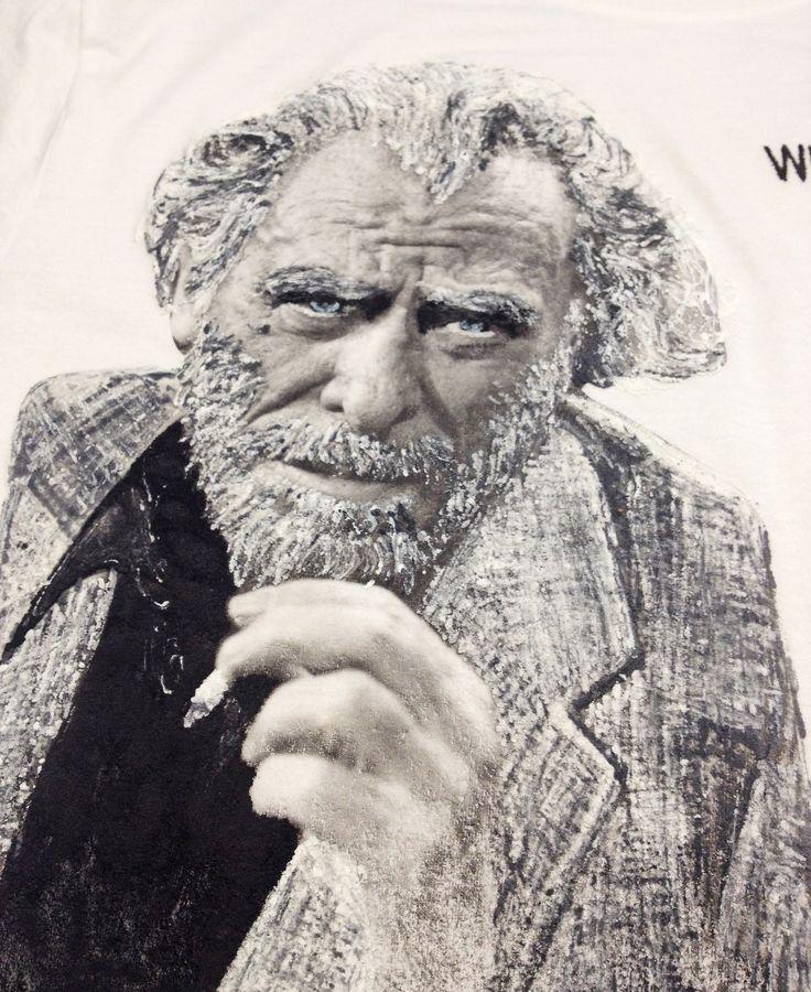 CHARLES BUKOWSKI T-shirt Painted Made to Order