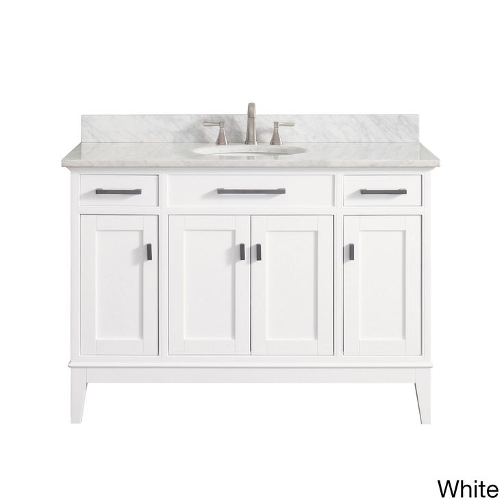Avanity Madison 49 Inch Vanity Combo In White With Top And Sink