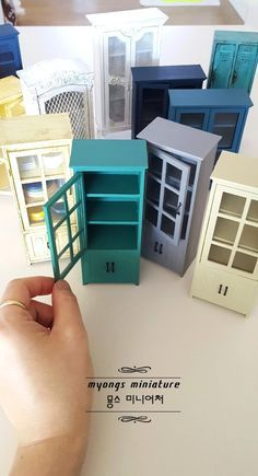 Love these mini cabinets