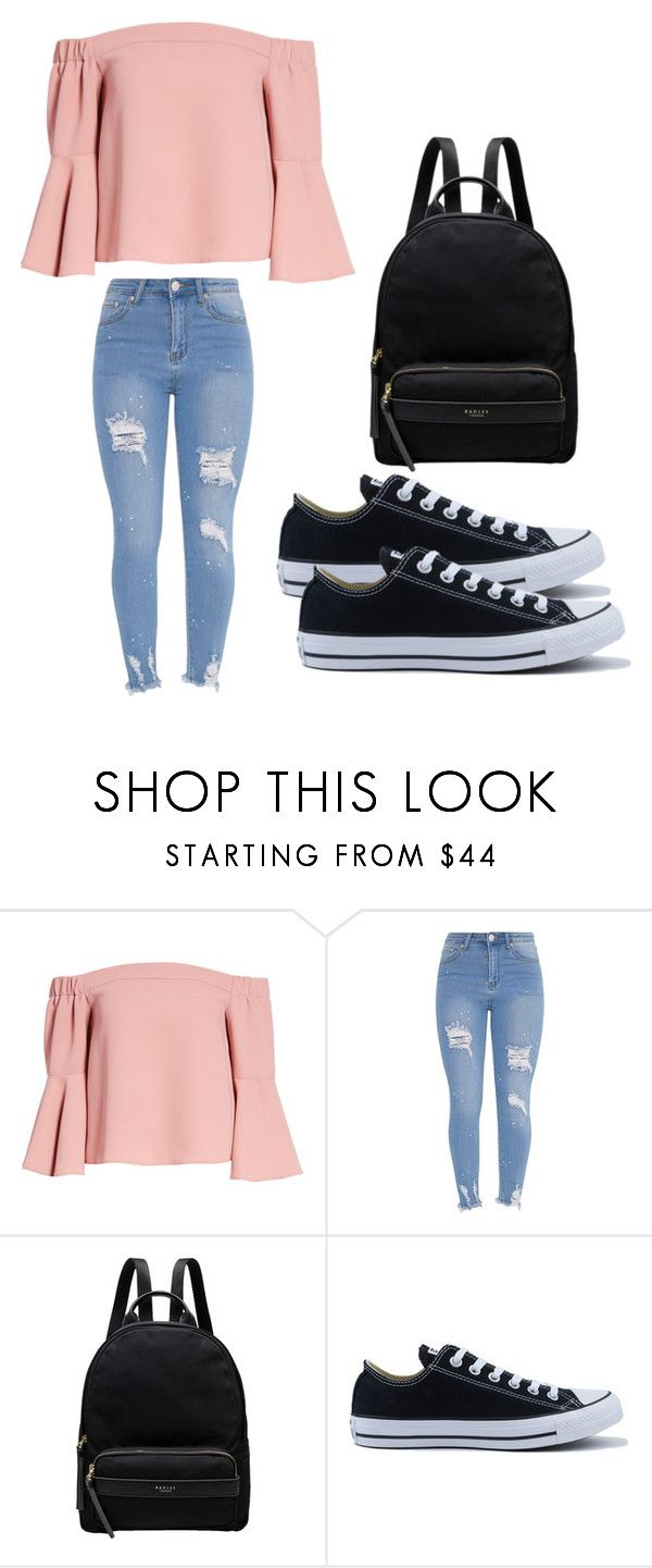 """""""Casual Cute Look"""" by nash-styles ❤ liked on Polyvore featuring Topshop, Radley and Converse"""