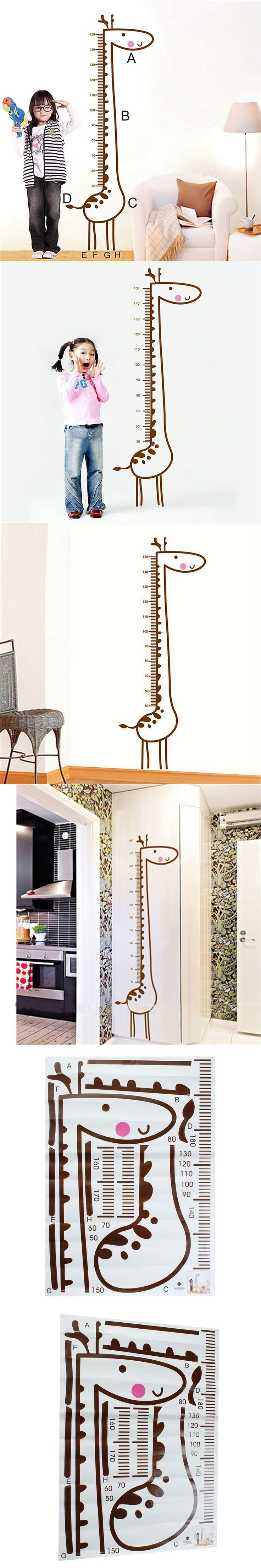 Designed le chien savant desk with chair for magis junior hipster - New Stylish Diy Removable Giraffe Wall Sticker Kids Child Growth Chart Height Measure Home Kids Bedroom