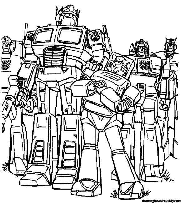 Optimus Prime Coloring Page Boyama Sayfalari Transformers Cizim