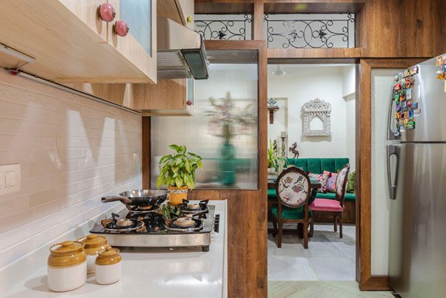 This Mumbai Apartment Is Indian In Spirit And Modern In Outlook Dress Your Home Interior Design Kitchen Kitchen Interior Indian Interior Design