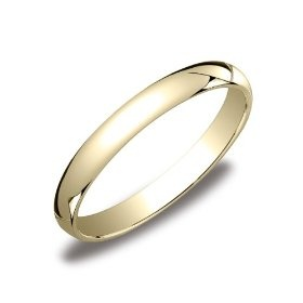 womens 10k yellow gold 3mm traditional wedding band ring size 7 wedding band
