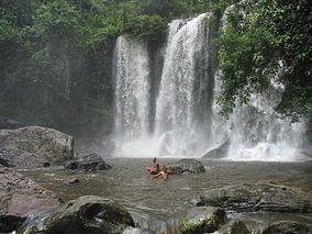 Waterfall in Phnom Kulen National Park, Cambodia