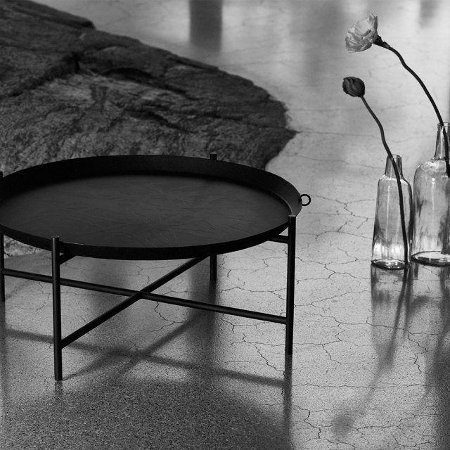 Table Basse Ronde Noire Ikea Table Basse Salon Pinterest Bass