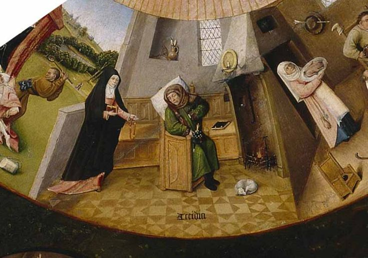 """Acedia según el Bosco (Hieronymus Bosch) en el disco de los pecados capitales, y las """"cuatro últimas cosas"""""""