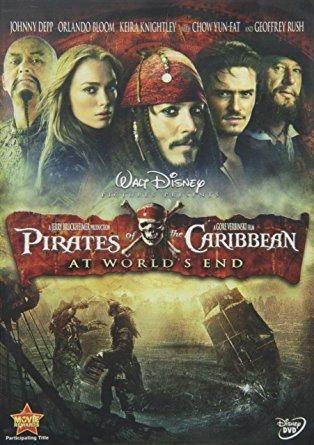 Pirates of the Caribbean - At World's End (DVD / WS / ENG / SPAN) Johnny Depp; Orlando Bloom; Keira Knightley; Chow Yun-Fat; Stellan Skarsgard; Jack Davenport; Bill Nighy; Jonathan Pryce; Geoffrey Rush; Mackenzie Crook