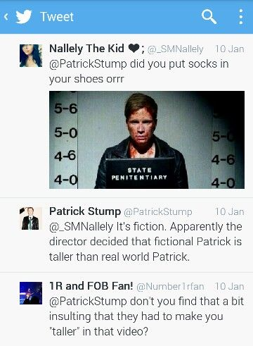 Patrick Stump tweets