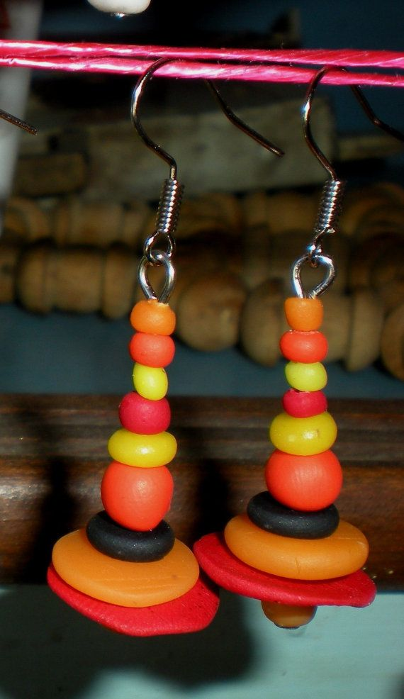 Hand made abstract art earrings hand crafted by Inspiration2Art, $9.99