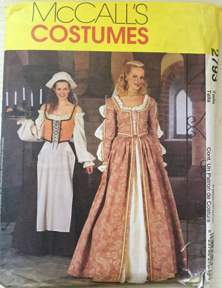141 besten Costumes- McCall\'s Sewing Patterns twogirlpugs@Bonanza ...