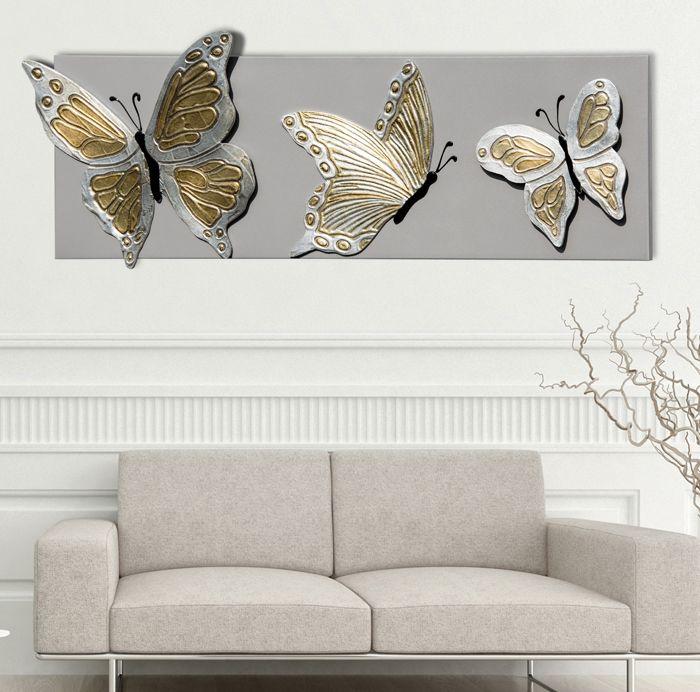BUTTERFLIES DELUXE #quadro #quadri #pannelli #madeinitaly #paintings #pictures #pintdecor #canvas