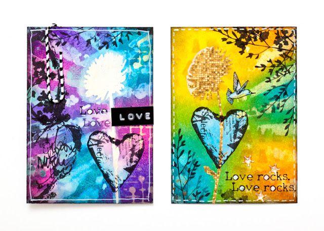 Lehtipollon leikekirja: ATC-pari: Love Rocks