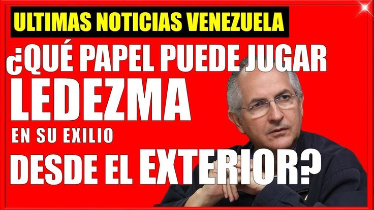 Qué Tanto puede hacer Antonio Ledezma desde el Exterior? Ultimas noticias de venezuela #venezuela