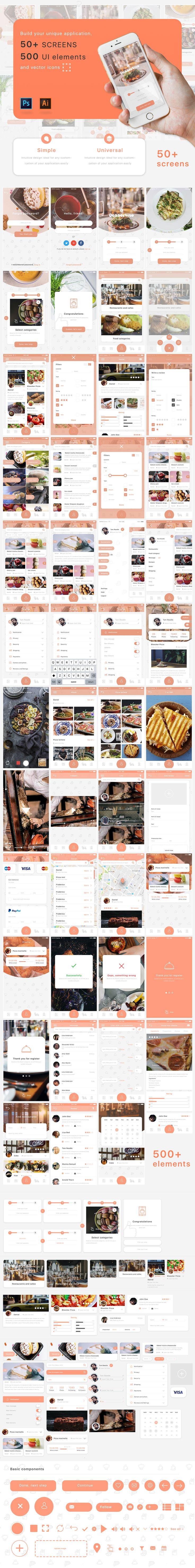 Mobile App UI kit on Behance