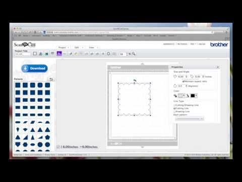 In this video I show you how to use the new features that Brother have given us in their online software ScanNCut Canvas. I show how to set cut and draw line... and how to score a line if you so want to.