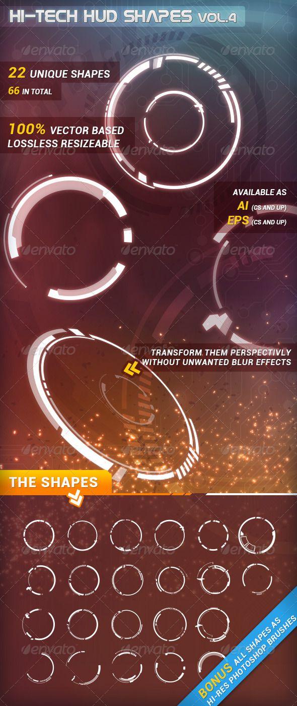 Hi-Tech HUD Shapes Vol.4 - Technology Conceptual