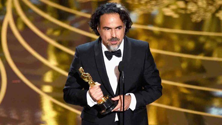 """Alejandro G. Iñarritu fue el ganador a Mejor Director por """"El Renacido"""" en los #oscars2016"""