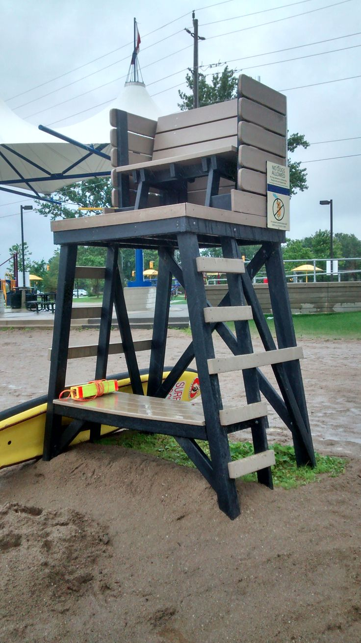 Lifeguard station installed at a beach. Designed and built ...