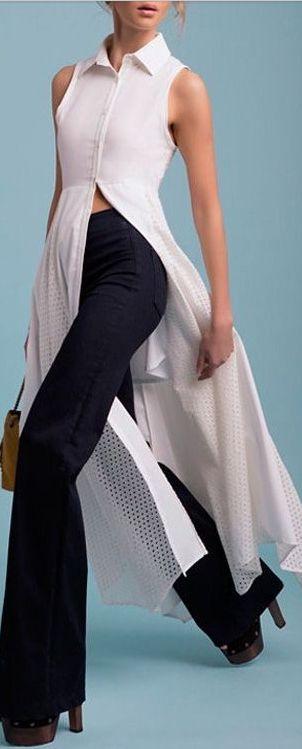 eyelet panel maxi top/dress