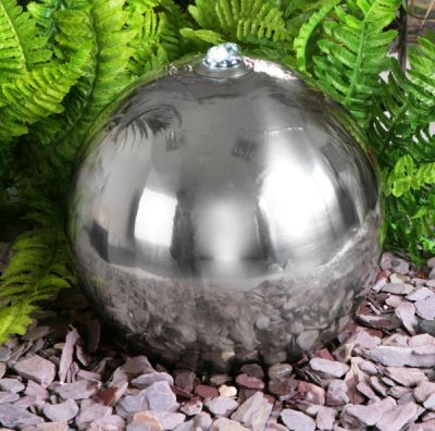 18in Stainless Steel Solar Powered Sphere Water Fountain with LED Lights by Solaray™ $369.99