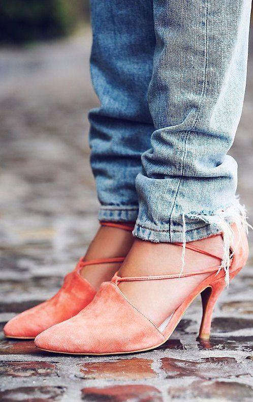 Coral Berlin Heels ❤︎