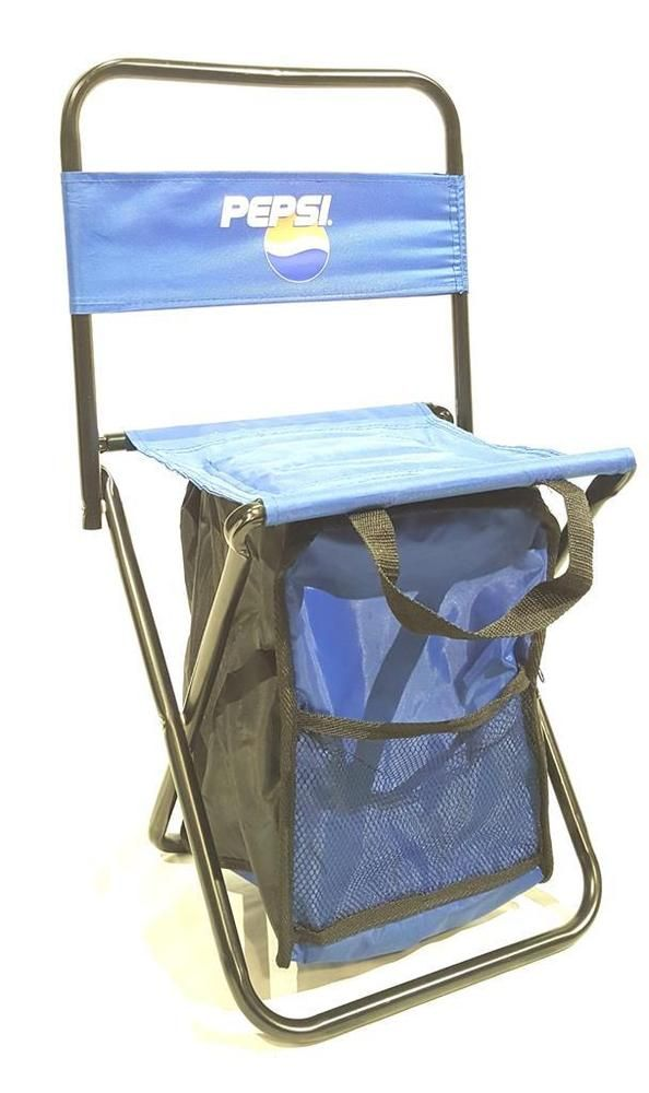 New Pepsi Travel Tailgate Picnic Chair w/ Built In Insulated Cooler | Collectibles, Advertising, Soda | eBay!