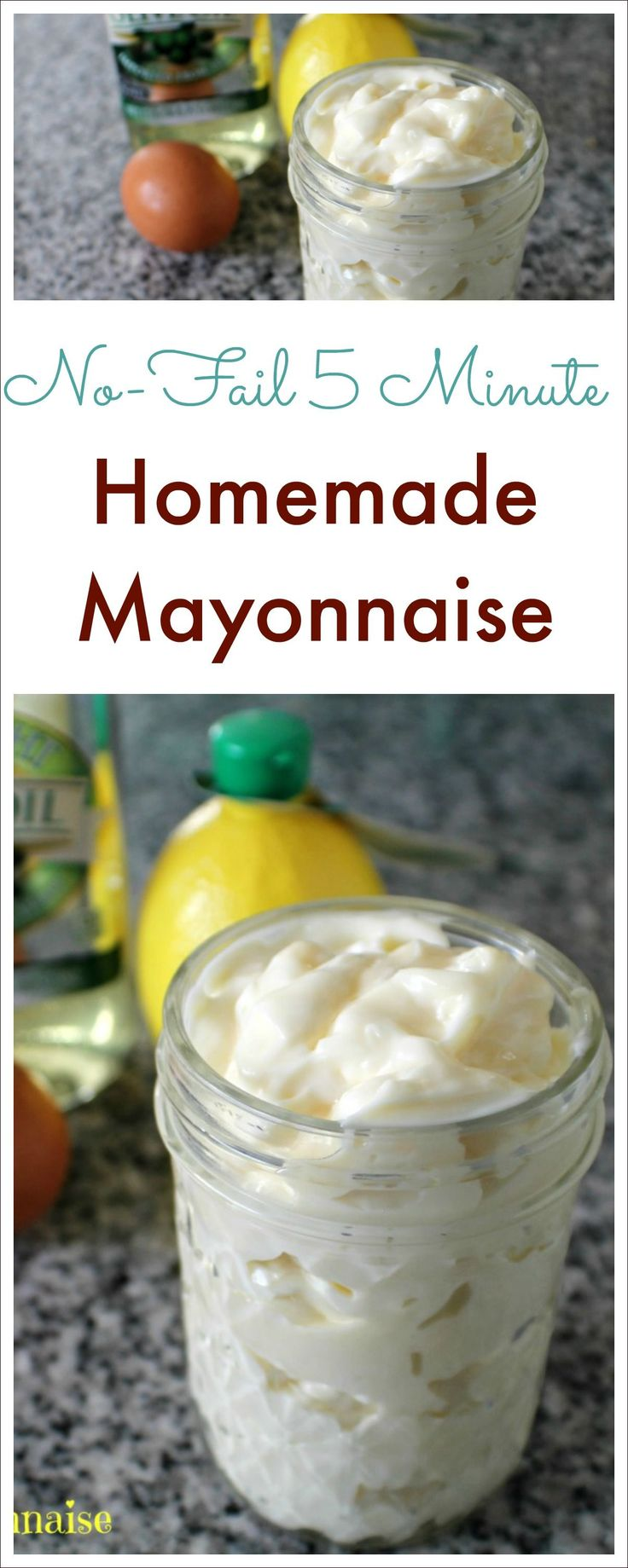This whole30 approved homemade mayonnaise recipe will change your life! It is light & fluffy with a rich flavor - you will never buy store-bought again!