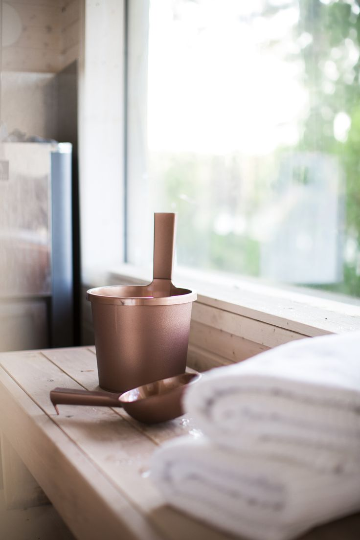 Orthex - copper coloured sauna range