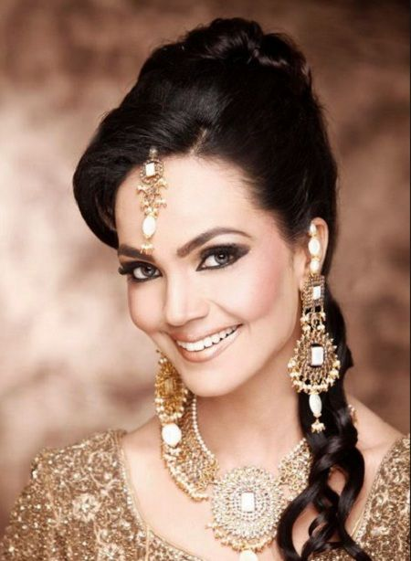 Indian bridal hairstyle for wedding 5