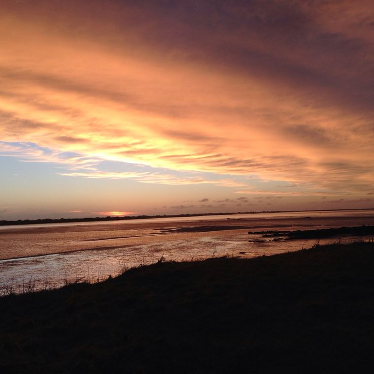 Stunning winter Sunset looking towards the workshop in South Uist Outer Hebrides