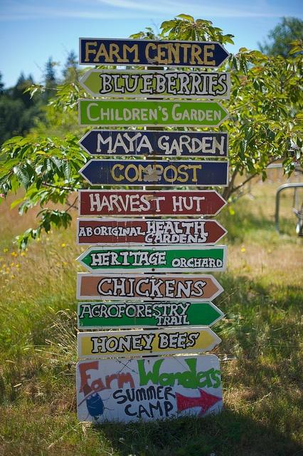 UBC Farm Sign by Ha.Ha.Photography