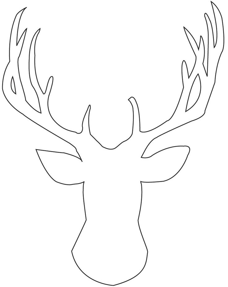 Printable: Reindeer Outline Silhouette, Holiday, Printable Stencil ...