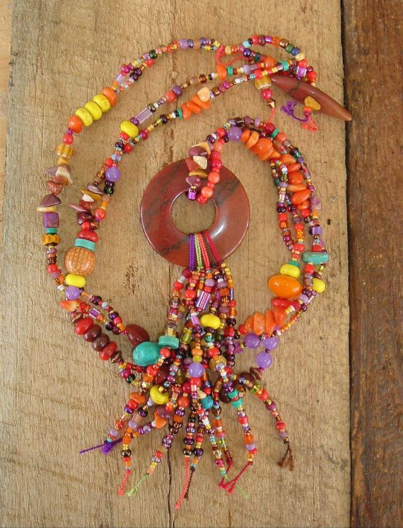 Boho Necklace Bohemian Style Indian Corn Fall by BohoStyleMe