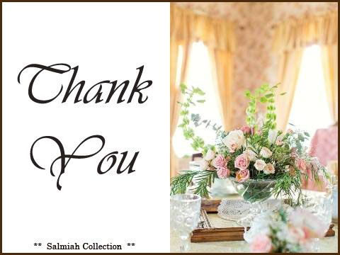 Salmiah Collection: Thank You Card 13