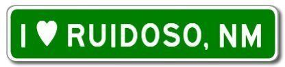 I Love RUIDOSO, NEW MEXICO City Limit Sign - Aluminum - 6 x 24 inches by The Lizton Sign Shop. $29.95. Great Gift Idea. Aluminum Brand New Sign. Predrillied for Hanging. Rounded Corners. 6 x 24 inches. I Love RUIDOSO, NEW MEXICO City Limit Sign - Aluminum. Made of Aluminum and High Quality Vinyl Letters and Graphics. This sign is 6 x 24 inches. Made to last for years outdoors, the sign is nice enough to display indoors too, comes with two holes pre-punched for eas...