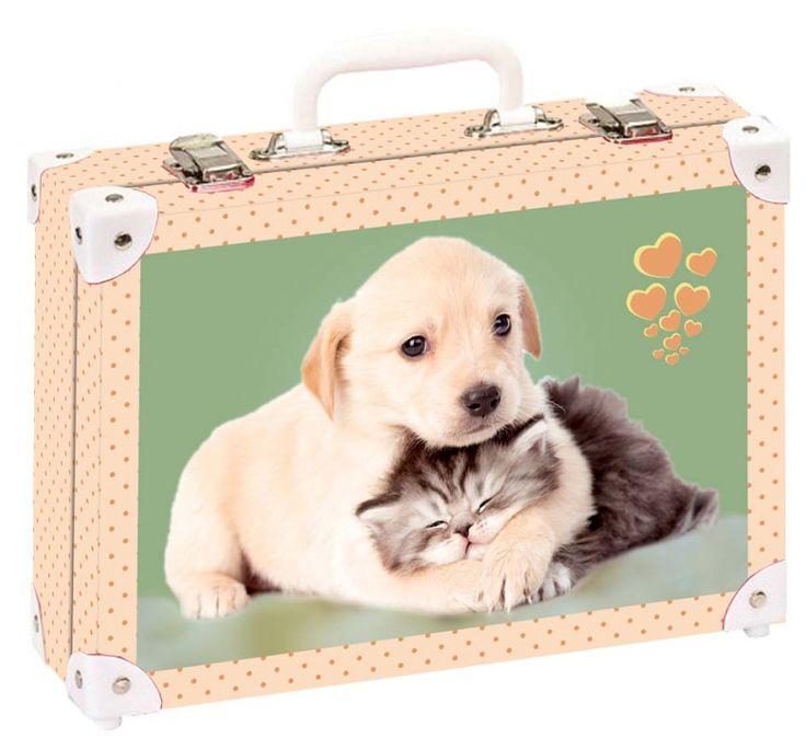 Školní kufřík velký - 35x25x11cm č. 21742 HK Velký  Pejsek a kočička společně