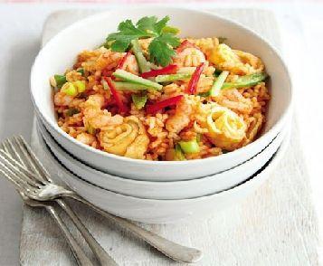 Low FODMAP Recipe - Thai shrimp fried rice: http://www.ibssano.com/low_fodmap_recipe_thai_shrimp_fried_rice.html