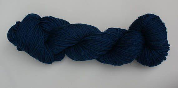 DEEP INDIGO  Indigo dyed New Merino Wool