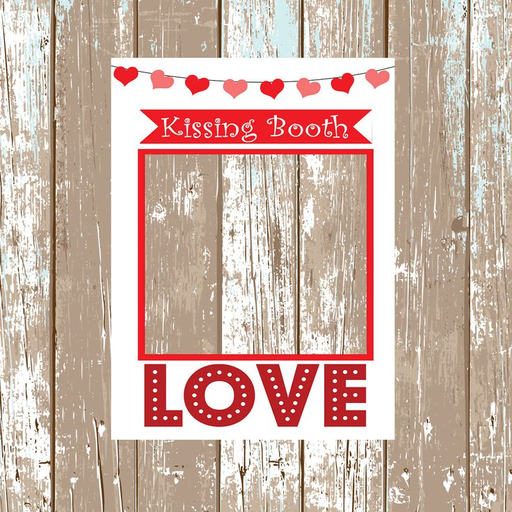 Kissing Booth Wedding Frame Photobooth Frame Valentines Day Props Photobooth Props