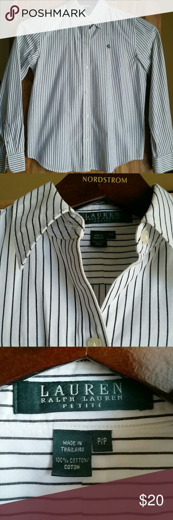 LAUREN RALPH LAUREN PETITE Shirt 100% cotton. P/P Lauren Ralph Lauren Tops Button Down Shirts