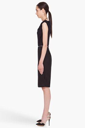 $600 LANVIN //  BLACK JERSEY DRESS
