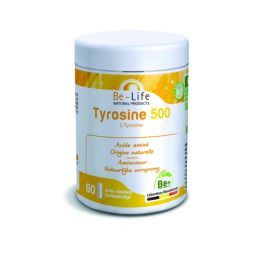 Tyrosine 500 mg - Stress et Vitalité Acide aminé essentiel 60 gélules - Be-Life