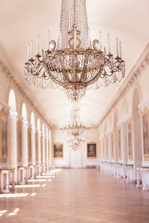 Paris France Photography, Chandelier in Le Grand Trianon, Versailles, French Wall Decor, Paris Decorative Art