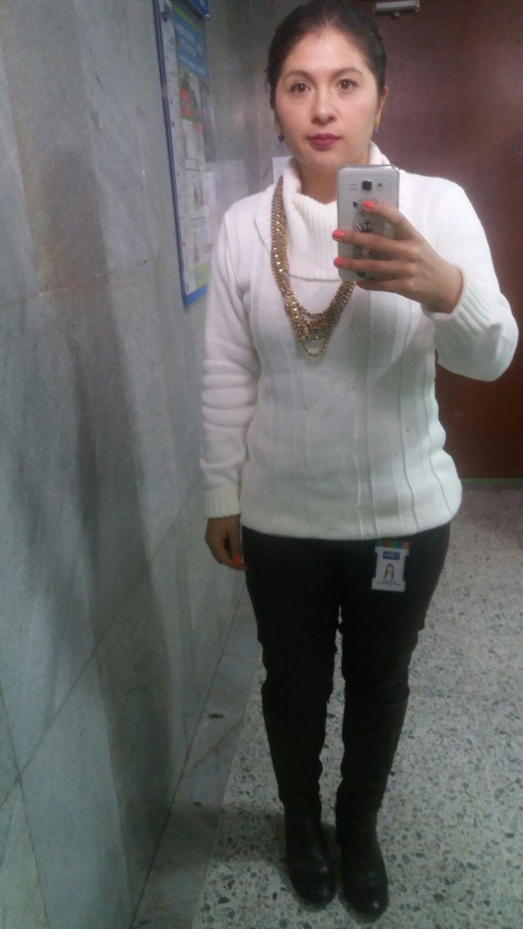 Saco blanco outfit