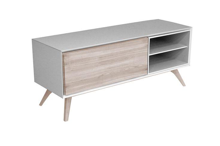 Mueble de TV Quatre - Mueble de TV Quatre en madera maciza de fresno