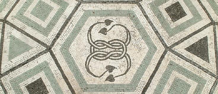Roman mosaic, Camerino, Le Marche, Italy