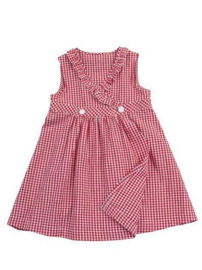 Vestido niña vichy rojo: Wrap