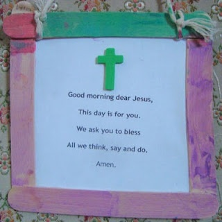 Prayer reminder. Could work in bathroom or before you leave the house