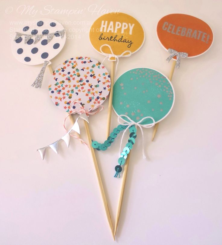 Celebrate Today (Occasions 2015), Balloon Framelits, Bermuda Bay sequin trim, Silver glimmer paper, cupcake toppers #StampinUp #MyStampinHaven #Occasions2015